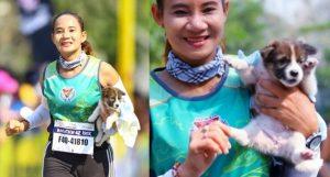 Med maratonom rešila psa in z njim tekla 30 kilometrov do ciljne črte