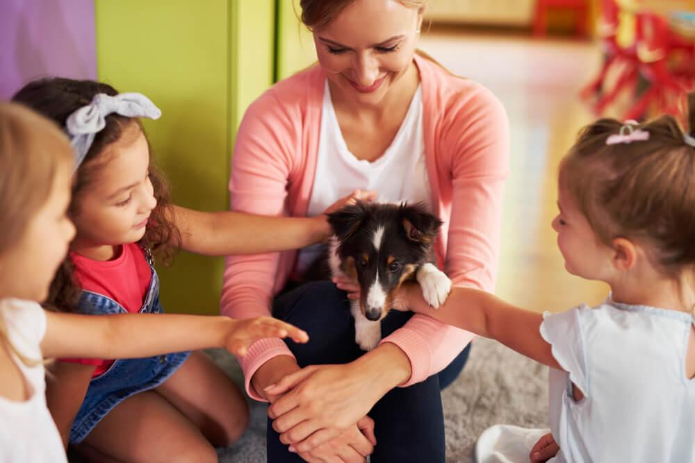 Stres učencev je manjši, če je v razredu tudi terapevtski pes